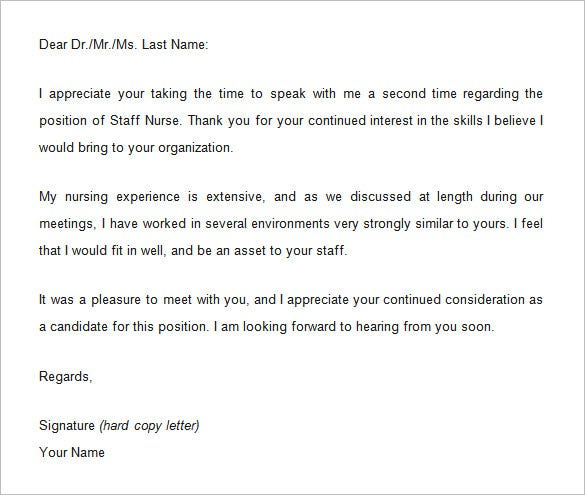 8  thank you email template after interview