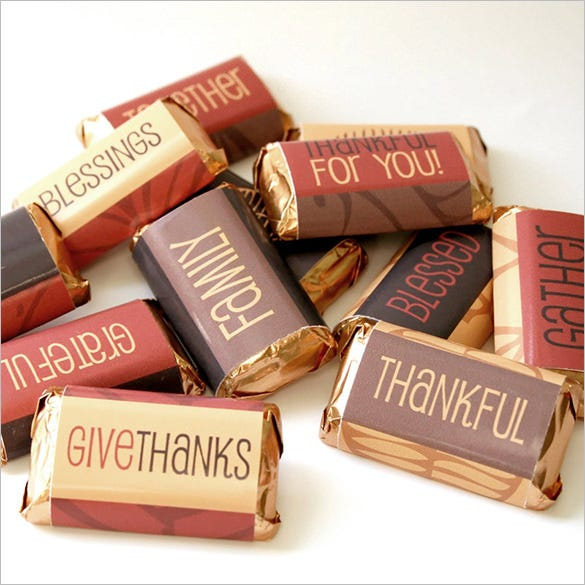 thanksgiving candy bar wrapper template
