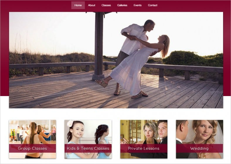 the dance studio wordpress theme 788x560