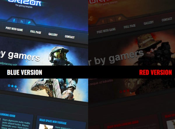 the gaming template wp theme