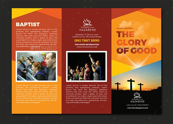 The Glory Of God Church Trifold Brochure