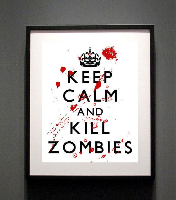 the walking dead keep calm digital art printable