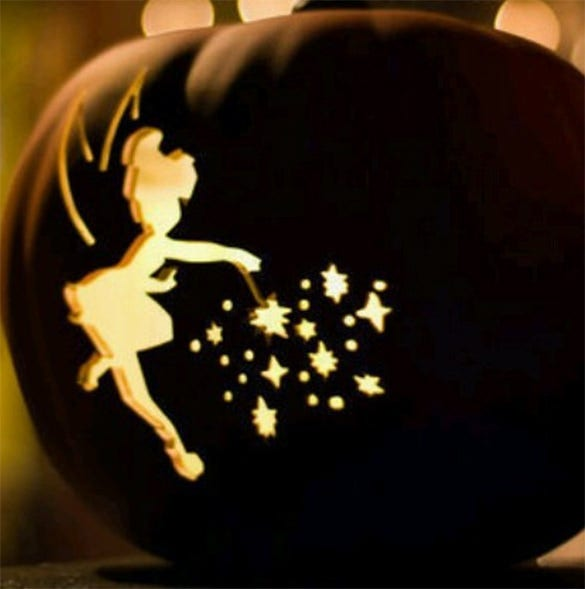 tinkerbell pumpkin carving pattern