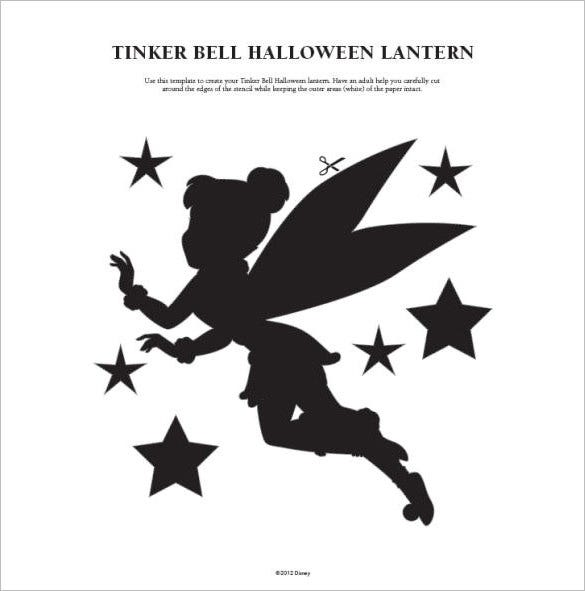 tinkerbell template for pumpkin carving