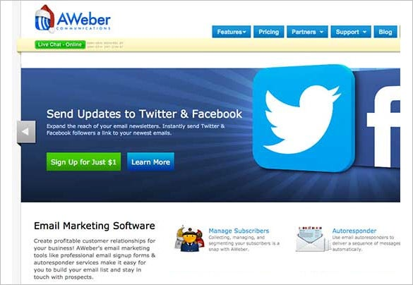 top aweber email marketing software