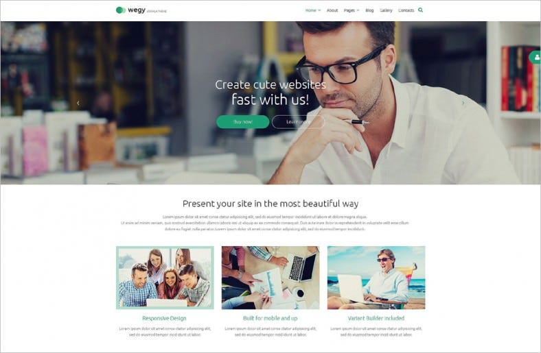 Top Responsive Business Blog Joomla Template