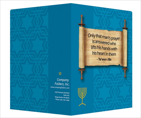torah scroll psd presentation folder template