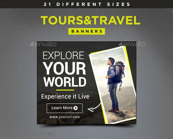 tours travel banners to promote business