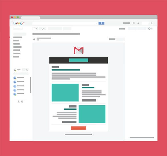 14+ Google Gmail Email Templates – HTML, PSD Files Download! | Free ...