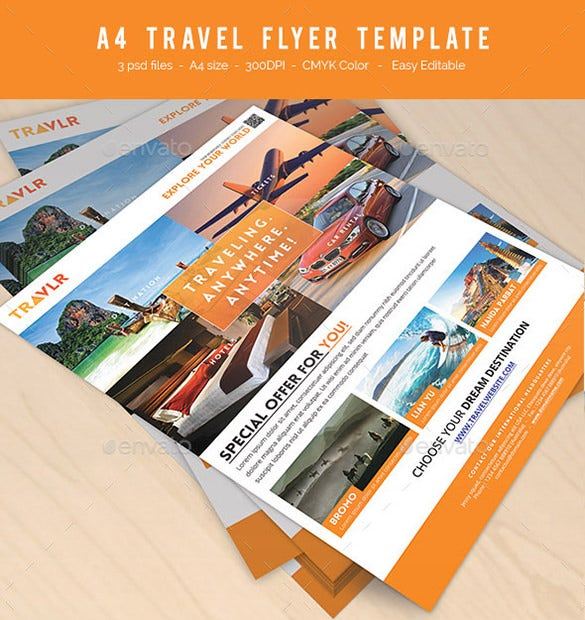 travel psd flyer template download 6