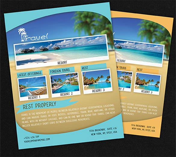 Travel Flyer Template 43 Free PSD AI Vector EPS Format – Tourism Brochure Template