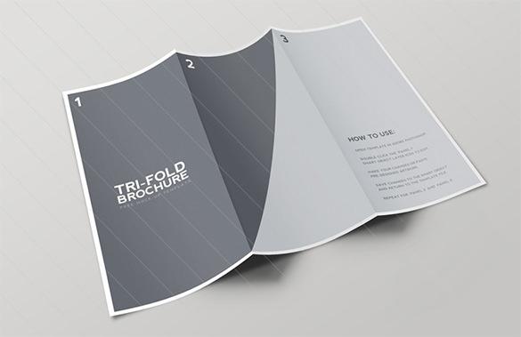 tri fold brochure mockup template