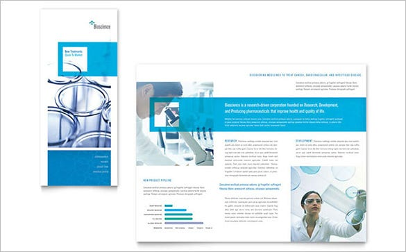 tri fold drug brochure template