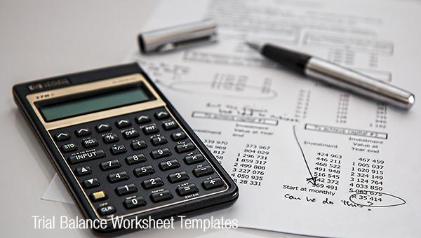 trial balance worksheet templates