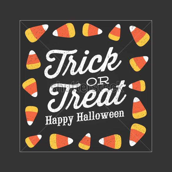 trick or treat happy halloween candy corn vector design