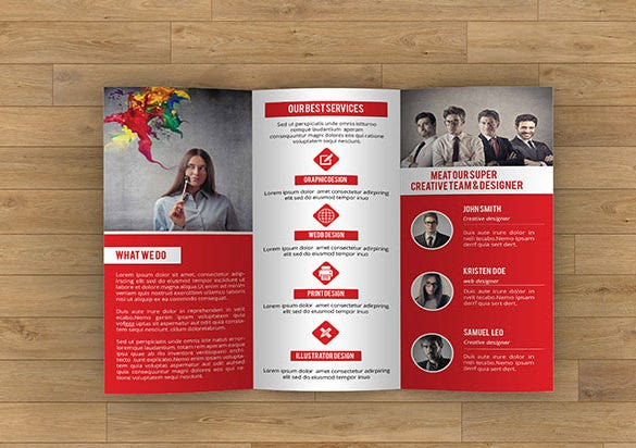 Awsome Brochure Sizes And PSD Design Examples Free Premium - Brochure template for pages