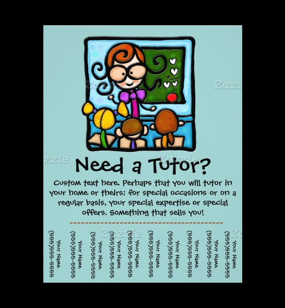 tutoring flyer made by teachers examples