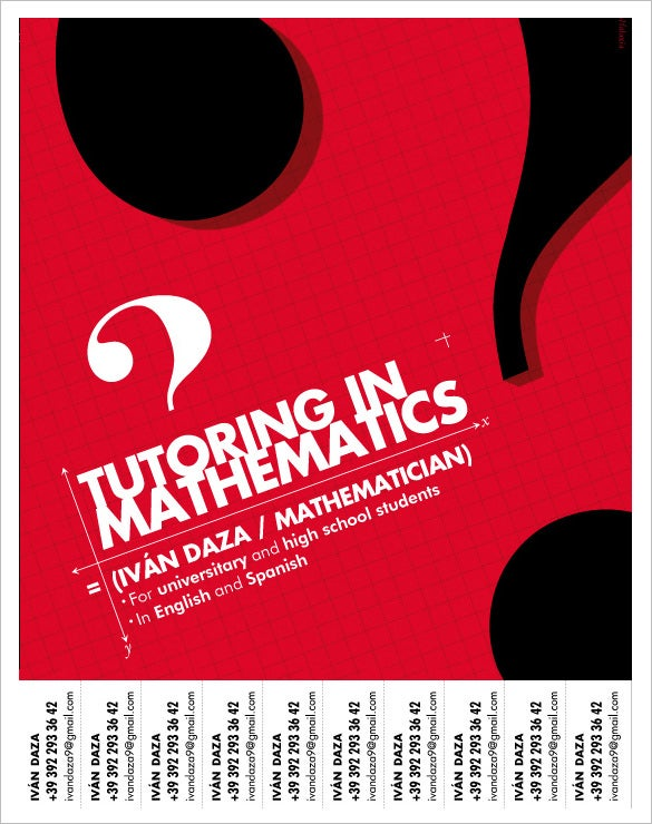 tutoring in mathematics flyer free