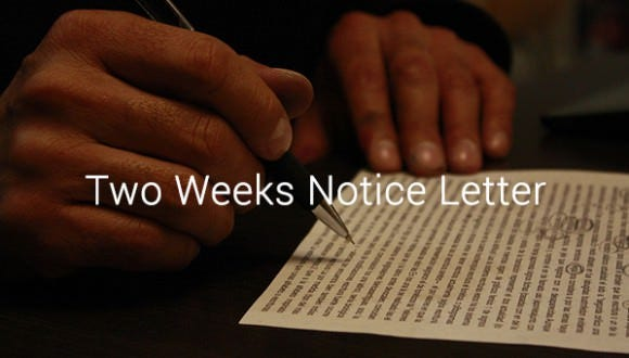 10 Two Weeks Notice Letter Templates Free Word Pdf