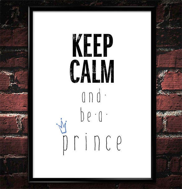 typographic keep calm poster wall art template download