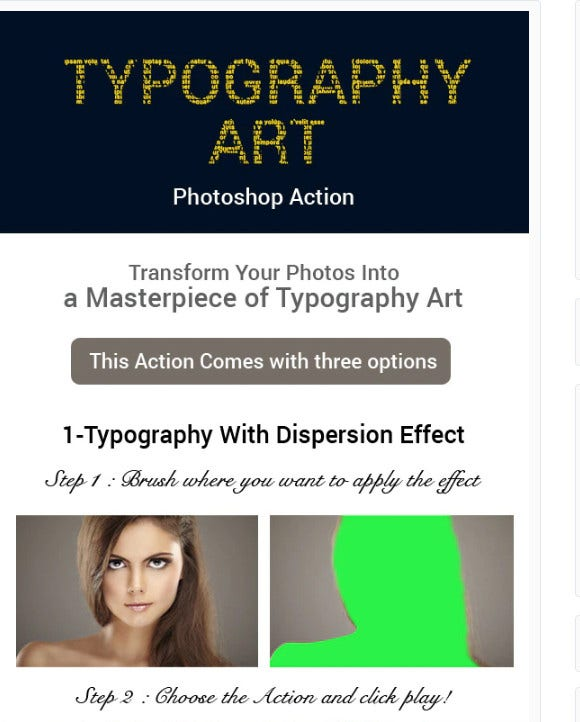 typography art photoshop action1