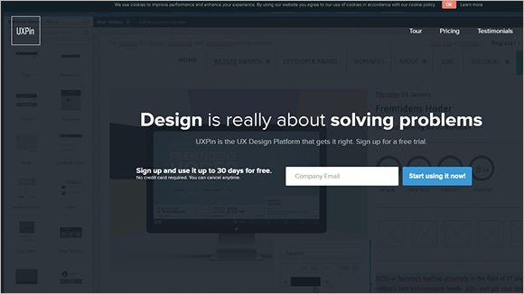 ux pin web design wireframing tool