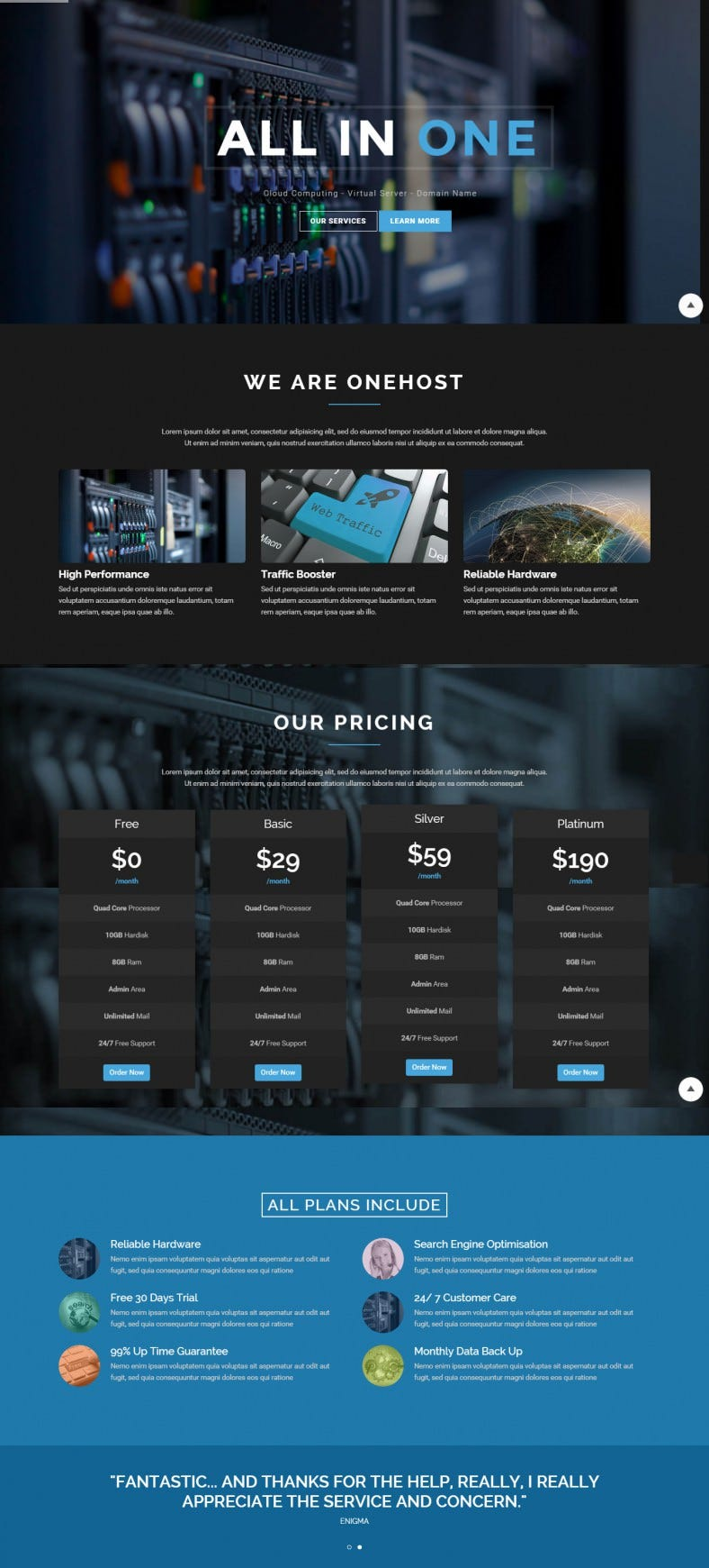 Ultra Responsive Hosting Technology Joomla Theme