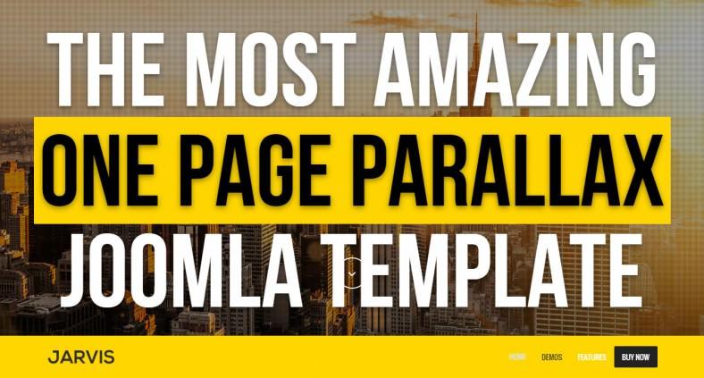 Ultra-Responsive & Retina Ready Parallax Joomla Template