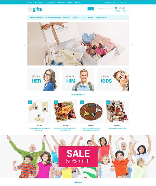 unique gifts magento theme