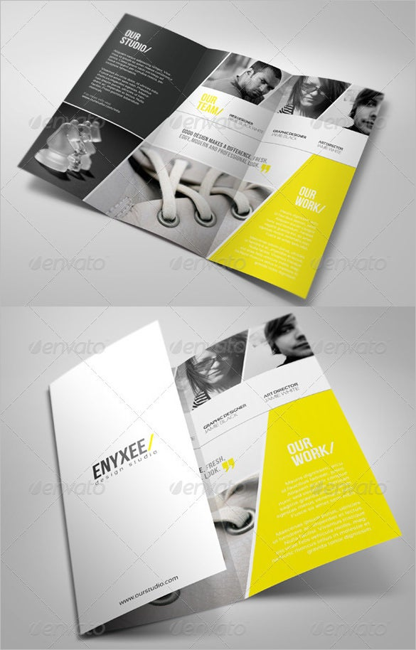 unique tri fold brochure psd