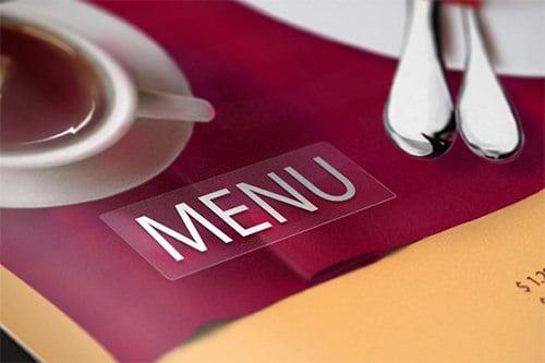 universal club menu template