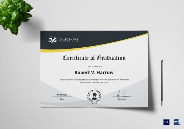 universal college graduation certificate template