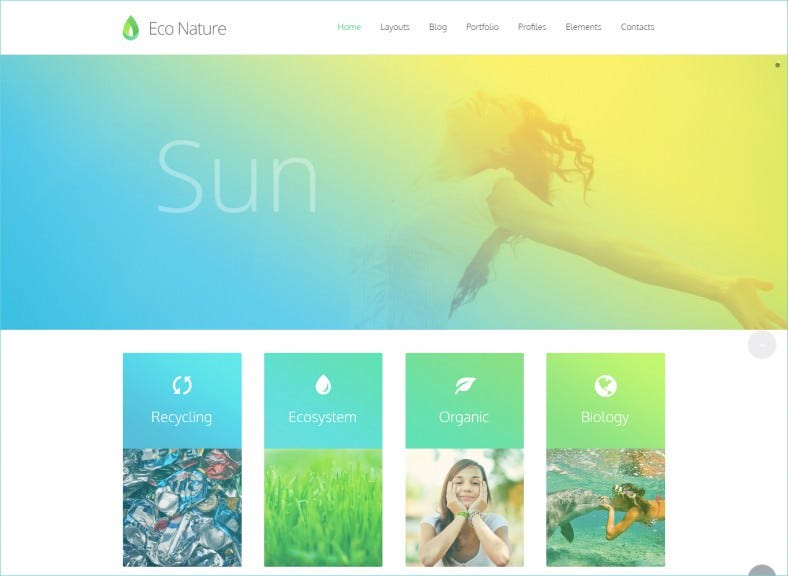 unlimited color variations environment ecology html5 template 788x576