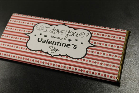 valentine candy bar template
