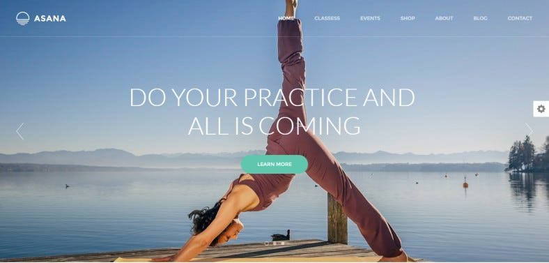 Valid HTML5 + CSS3 Yoga Studio Wp Template