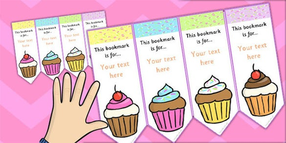 vector cupcake editable bookmarks for kids