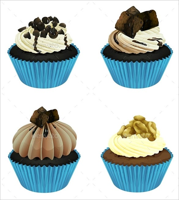vector eps cupcake template 5