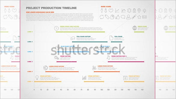 vector project timeline graph