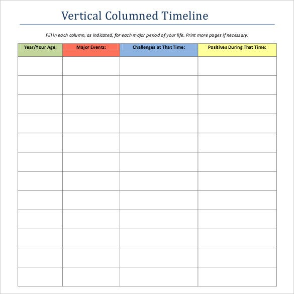 47  blank timeline templates