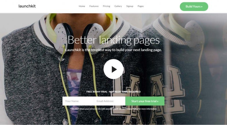 Video Background Landing Page Joomla Template