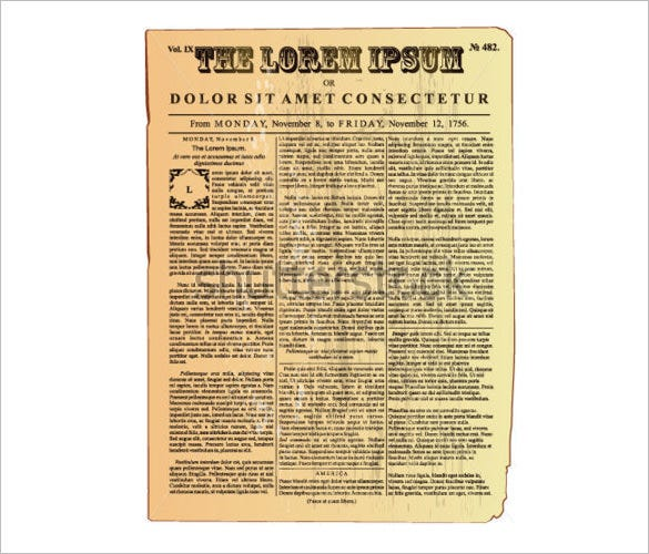 1920 Newspaper Template For Word