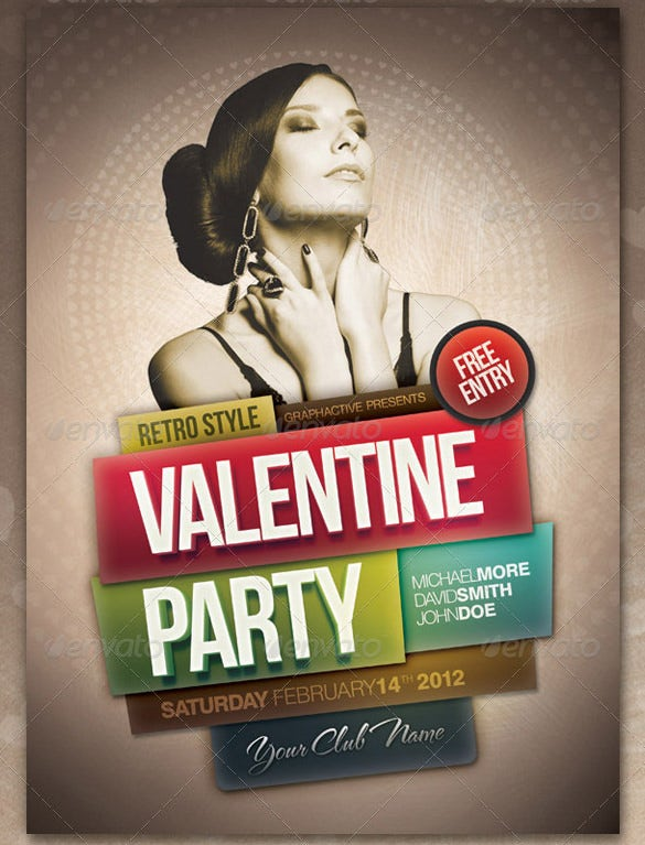 vintage style poster design for party