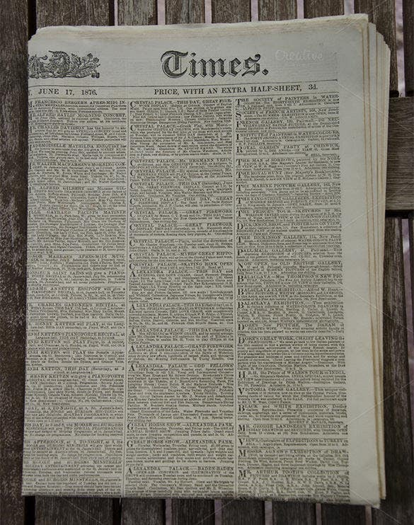 vintage and rustic old newspaper 2