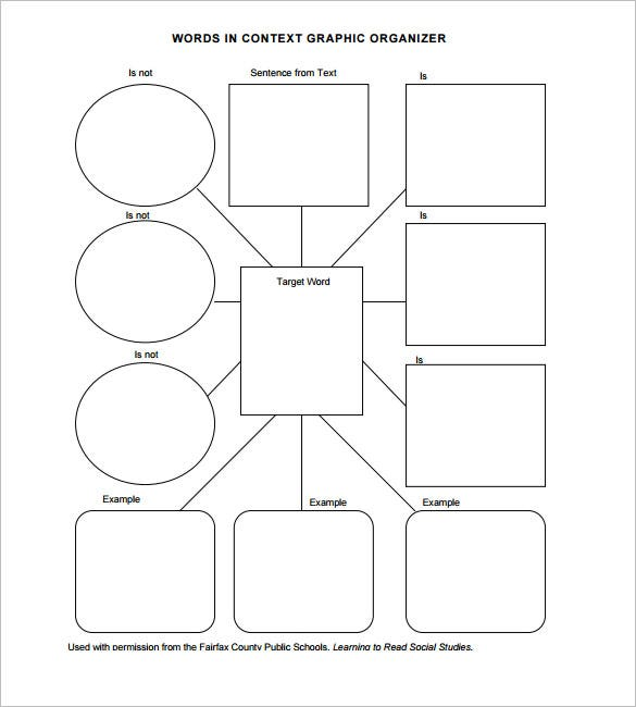 7 blank vocabulary worksheet templates word pdf free for Free graphic organizer templates