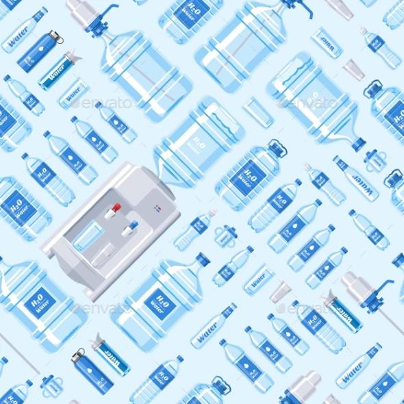 water bottle vector water drink liquid template
