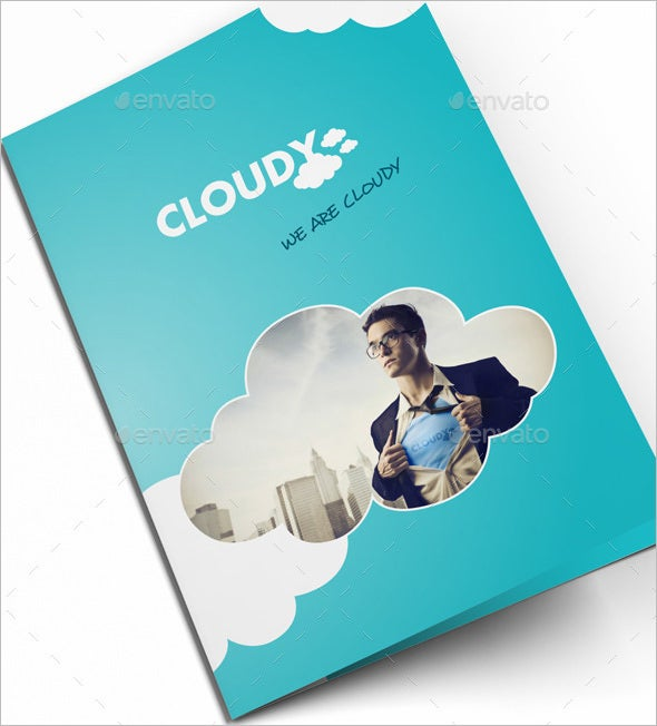 we are cloudy bifold corporate brochure