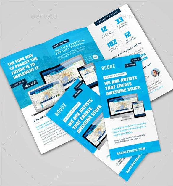 web design agency digital brochure template
