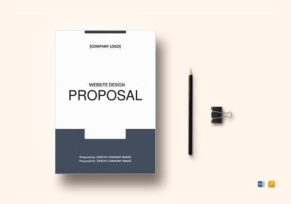 website design proposal word template