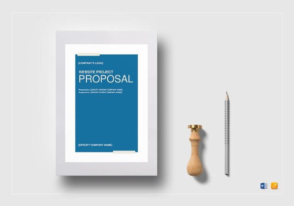 website project proposal word template