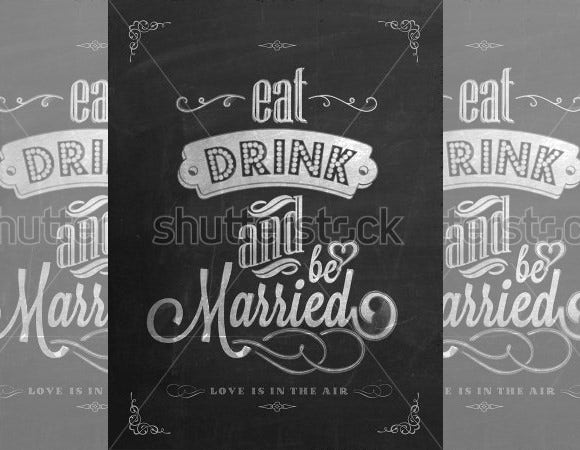 wedding invitation vintage typographic template